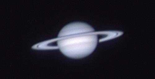 Saturn snimljen ToUcam Pro web kamerom sa Zagrebačke zvjezdarnice